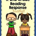 Reading Response FREEBIE: Kindergarten to 2nd Grade