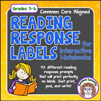 Reading Response Labels for Interactive Notebooks: 42 prompts!
