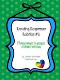 Reading Response Rubrics 2