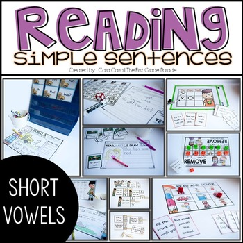 READING SIMPLE SENTENCES - SHORT VOWEL EDITION