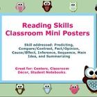 Reading Skills Classroom Mini Posters 10 mini posters for