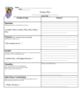 Reading Strategy Sheet