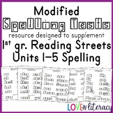 Reading Street 1st grade Unit 1-4 Modified Spelling