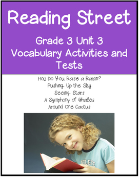 Reading Street Vocabulary   Unit 3 Grade 3