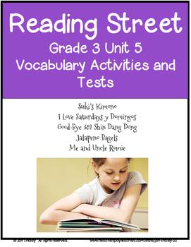 Reading Street Vocabulary Unit 5 Grade 3