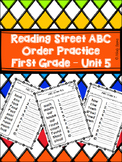 Reading Street ABC Order - Unit 5 Spelling Words
