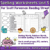 Reading Street Grade 1 Unit 5 Supplemental Spelling Worksheets