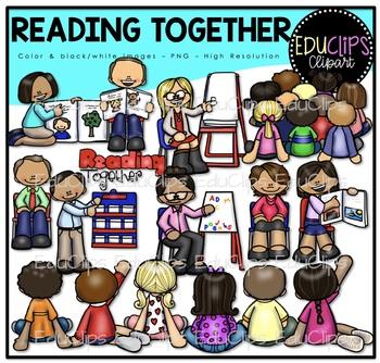 Reading Together Clip Art Bundle