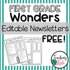 Reading Wonders Editable Newsletters Units 1-3