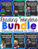 Reading Wonders Grade 2 Interactive Notebook GROWING Bundle