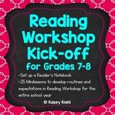 Reading Workshop Kick-off for Grades 7-8