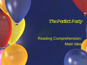 Reading comprehension practice/test prep -main idea PowerPoint