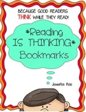 Reading is THINKING Balanced Literacy Bookmarks - Set of 11