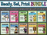 Ready, Set, Print BUNDLE: Math and Literacy Printables