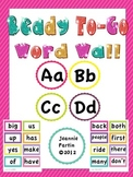 Ready To-Go Word Wall