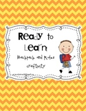 Ready to Learn! A Backpack and RULES craftivity!