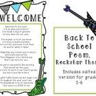 Welcome, Back to School Poem (Rockstar)