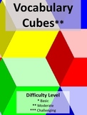 Ready to Use Vocabulary Cubes (7) for Adding Critical Thin