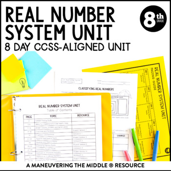 Real Number System 8th Grade Unit