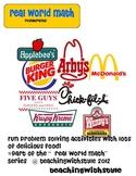 Real World Math: Restaurants