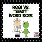 Real vs. Nonsense Word Sort Center - Space Theme