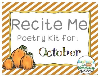Recite Me: October Poem