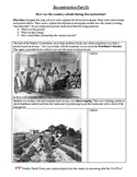 Reconstruction Part II- Primary Sources for Freedmen's Bur