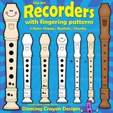 Recorders: Clip Art Recorders with Fingerings