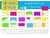 Rectangle Fractions Clip Art Set