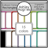 Rectangle Scalloped Frames {Graphics for Commercial Use}