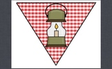 Red Gingham Letters for Camping Banners and Pennants!