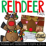 Reindeer Fun {Craftivity in English and Spanish}