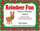 Reindeer Fun, Santa's Reindeer School - 5s, 10s, Greater T