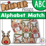 Reindeer Noses Alphabet Match