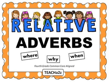 Relative Adverbs Powerpoint and More!!! 4th Grade Common C