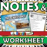 Renaissance Power Point with Graphic Organizer Notes Stand