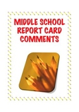 Report Card Comments for Middle School Language Arts