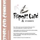 Report Card Comments: language, math, behavior, science, w