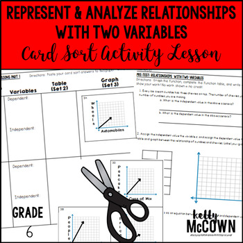 Represent & Analyze Relationships with Two Variables