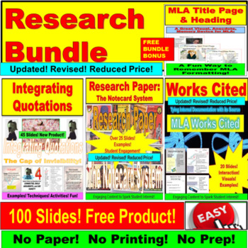 Research, Documentation, MLA PowerPoint JUMBO