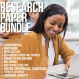 Research Paper Writing Process Bundle MLA Format