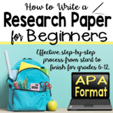 Research Paper for Beginners - APA