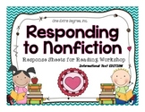 Responding to Nonfiction: Response Sheets for Reading Workshop
