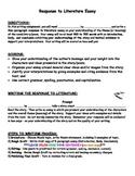 Response to Literature Essay Writing - ANY NOVEL/STORY/POEM