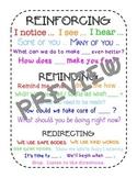 Responsive Classroom Language Handout