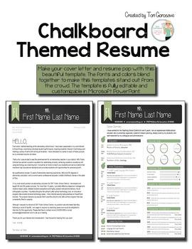 Resume Template for Teachers - Chalkboard Theme