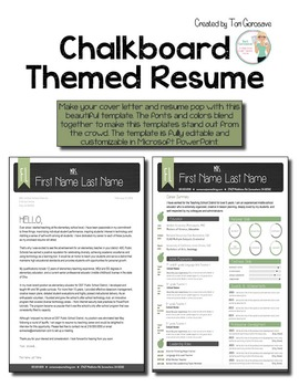 Resume Template for Teachers - Chalkboard Theme
