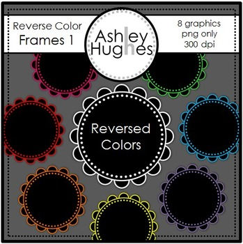 Reverse Color Frames 1 {Graphics for Commercial Use}