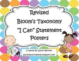 "Bloom's Taxonomy ""I Can"" Statement Posters for Higher Orde"
