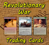 Revolutionary War / Colonial America Trading Cards